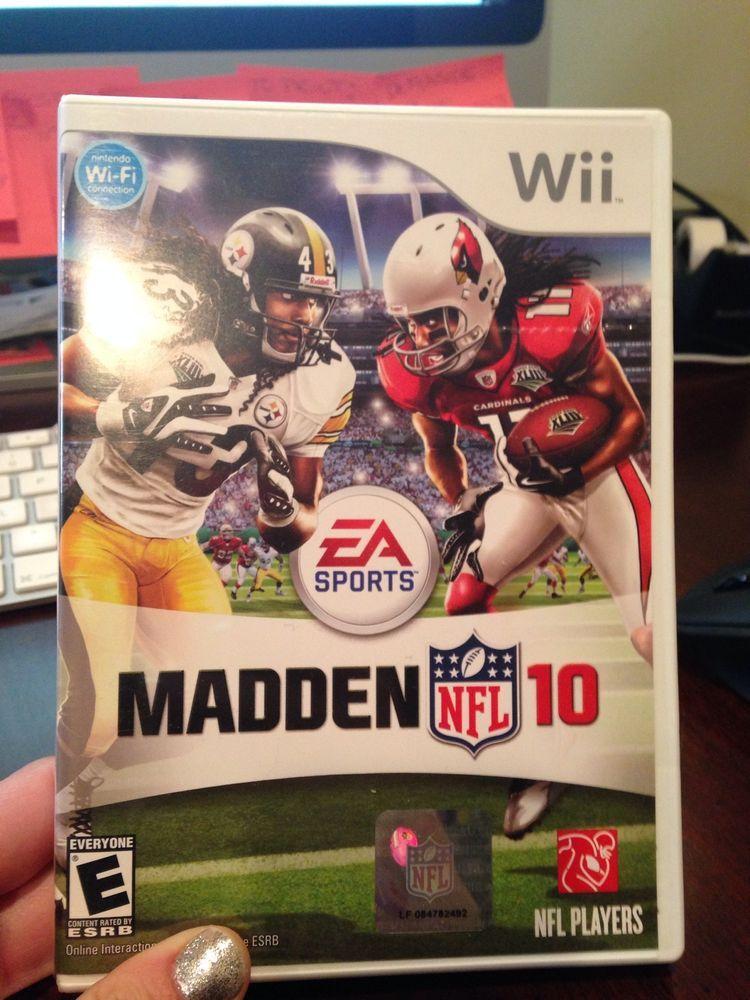 Madden NFL 10 (Nintendo Wii, 2009) | video games | Madden nfl, Wii