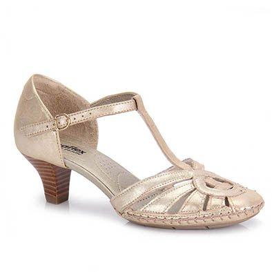 24fc3340d Lançamento: Sapato Feminino Usaflex C7278 - Dourado(A) Gostei ...