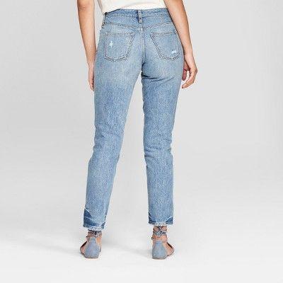 5ab9d2dd6e50c1 Women's High-Rise Straight Leg Jeans - Universal Thread Medium Wash 00, Size:  0, Blue