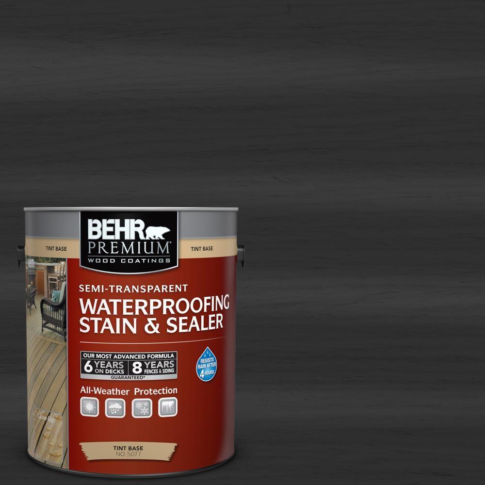 Behr Premium 8 Oz St 102 Slate Semi Transparent Waterproofing Exterior Wood Stain And Sealer Sample 507716 The Home Depot Exterior Wood Stain Staining Deck Staining Wood