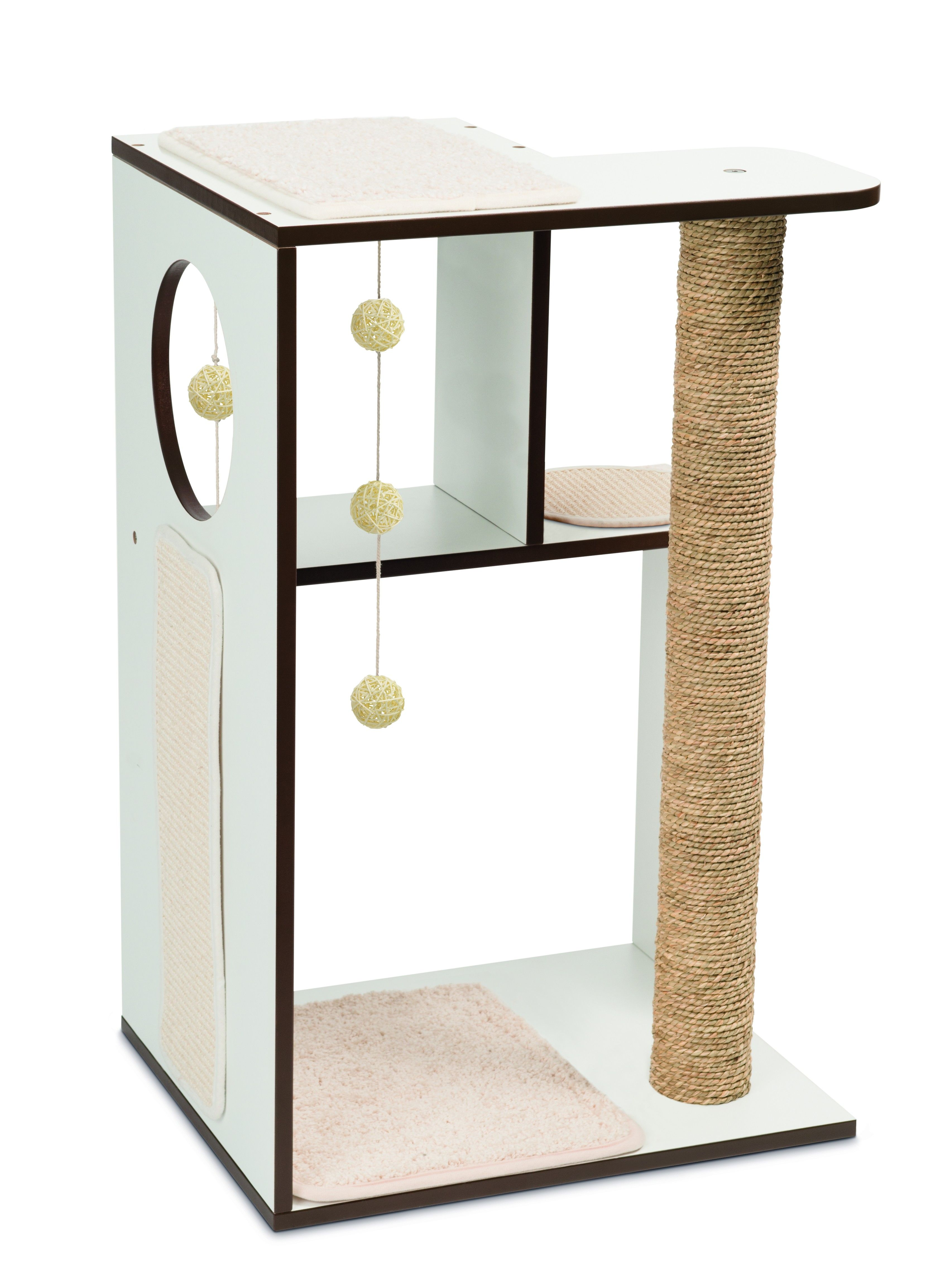 Catit Vesper Cat Scratcher Box Large Walnut Mobilier