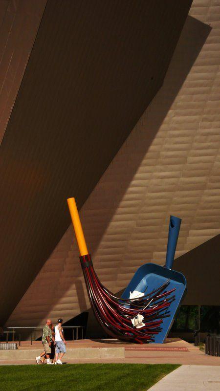Big Sweep, Denver Art Museum, Denver, Colorado by artists Coosje van Bruggen and Claes Oldenburg