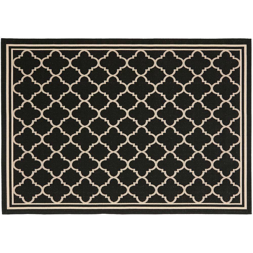 Safavieh Courtyard Safavieh Courtyard Trellis Indoor Outdoor Rug Black Products
