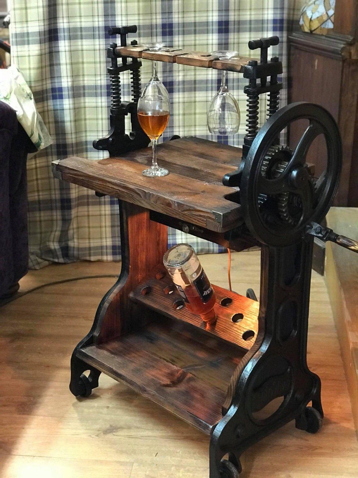Matchless Victorian Mangle Wine Rack