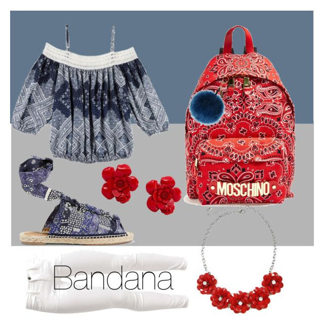 """Bandana"" by mollymacs ❤ liked on Polyvore featuring A. Byer, Chloé, Moschino, Chanel, Helen Moore and Benetton"
