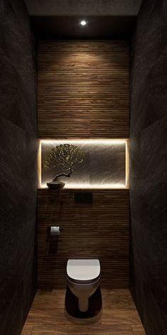 mur accent salle d\' eau #powderroom #salledebain | Toilettes ...