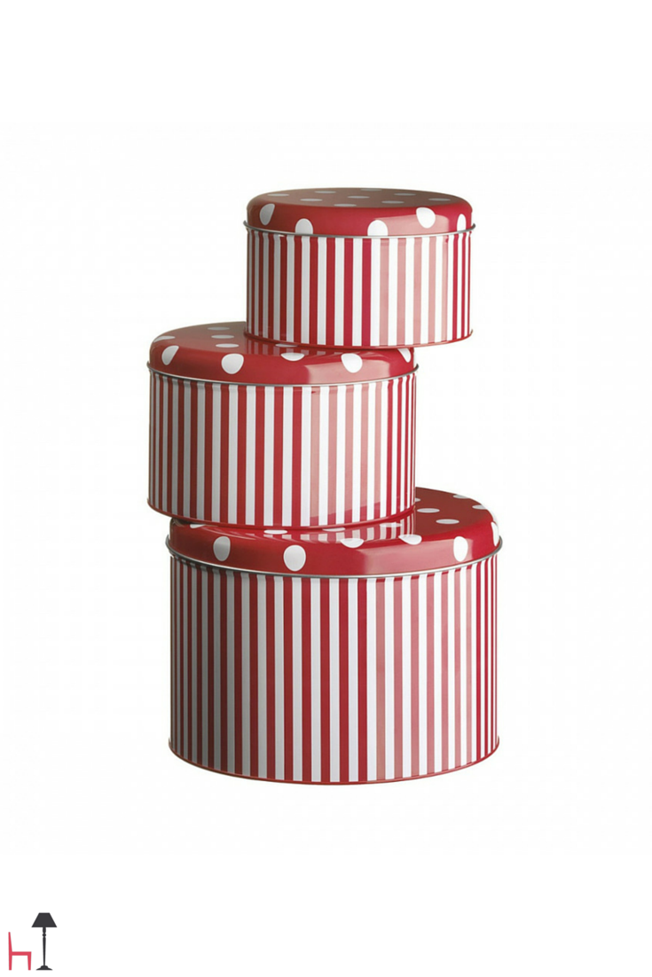 These tin boxes by Livellara can be used in the kitchen, in the office or anywhere else at home to store, decorate and keep tidy.