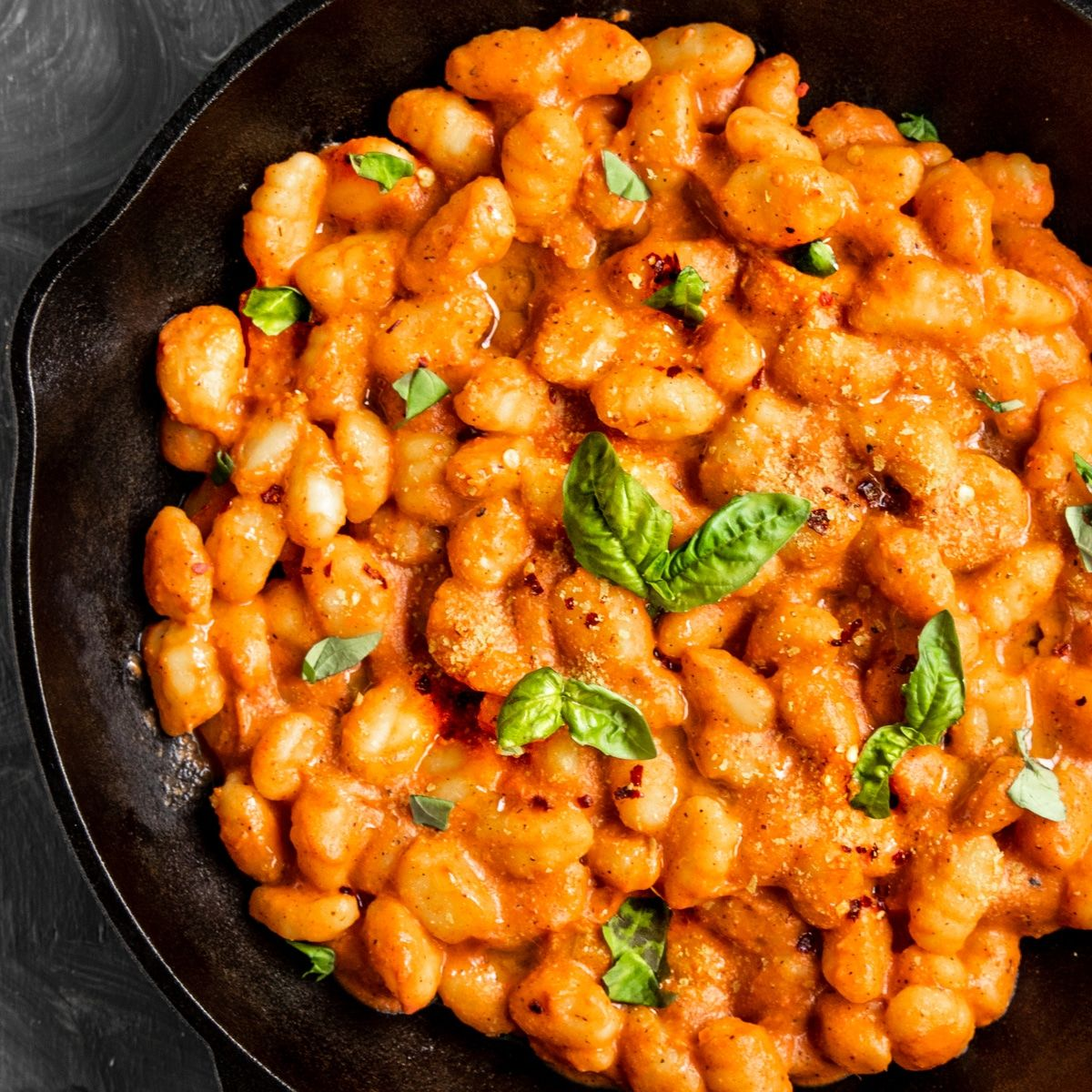 Vegan Gnocchi Tomato Cream Sauce | Short Girl. Tall Order