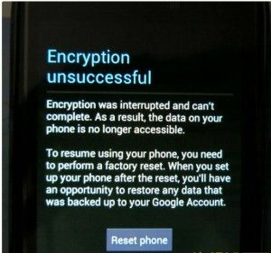 How to fix the Encryption Unsuccessful error on an MTK
