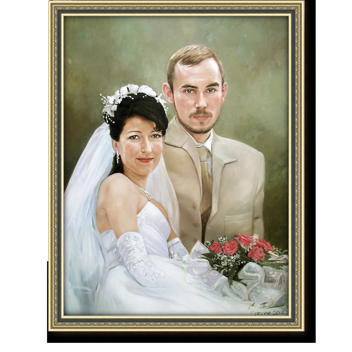 рисунок маслом на холсте с фотографии приехали знаменитые