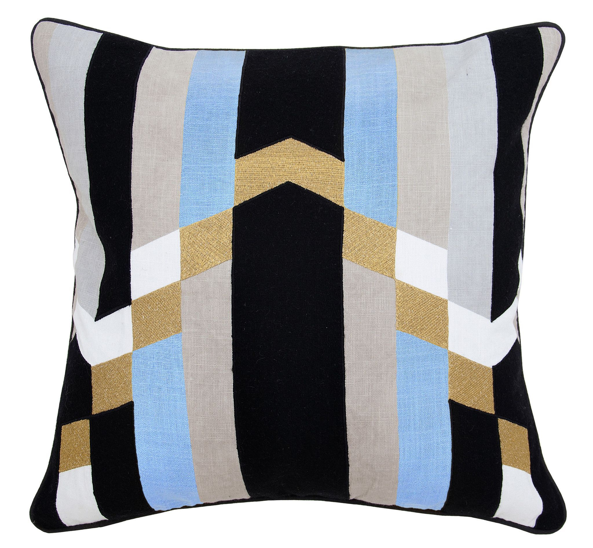 Jordan blue multi color pillow design by villa home products