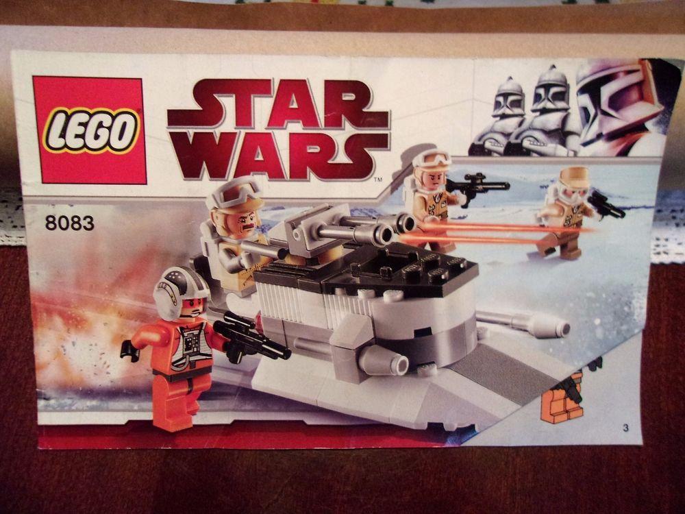 Lego Star Wars 8083 Rebel Trooper Battle Pack Instruction Manual