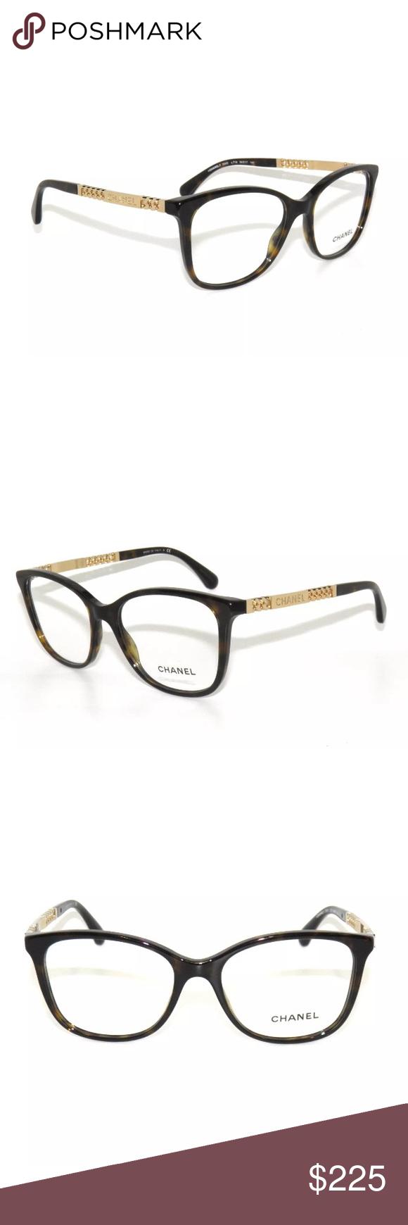 c67c732e82f Chanel 3343 Havana Eyeglasses 54mm Excellent Condition