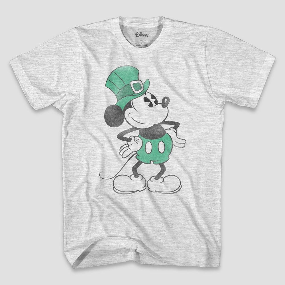 b5ab92bbd5 Men's Disney Mickey Mouse Short Sleeve Graphic T-Shirt - Ash 2XL ...
