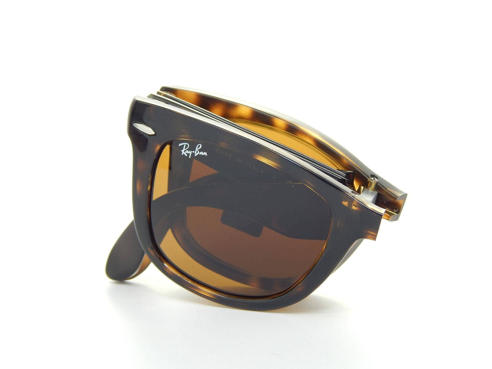 855da1daab524 Ray Ban Folding Wayfarer RB4105 710 Tortoise Brown Classic B-15 54mm  Sunglasses Ray