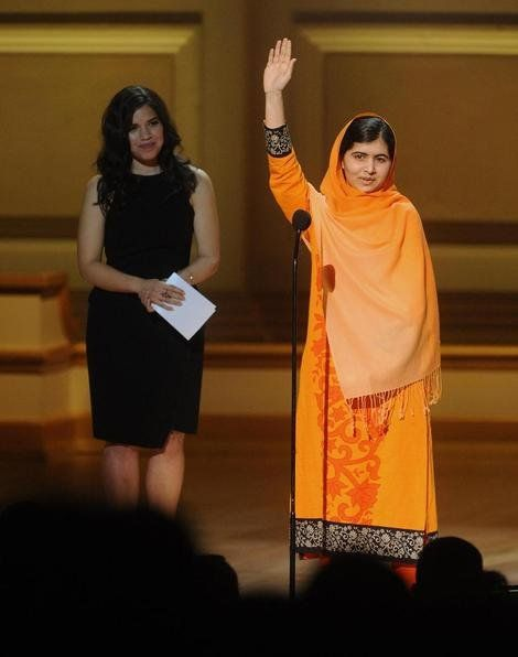 Lady Gaga forfeits the limelight for, Malala Yousafzai, the girl who the Taliban shot for wanting to go to school - Yahoo omg! UK