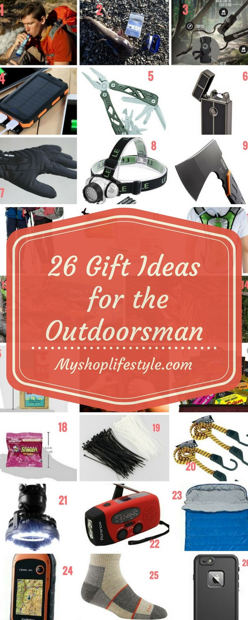 26 gift ideas for the outdoorsman camper hiker