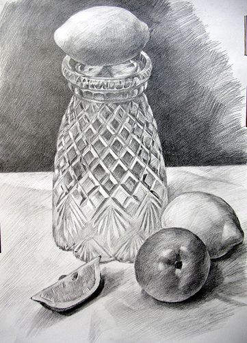 Pencil Sketches Vase