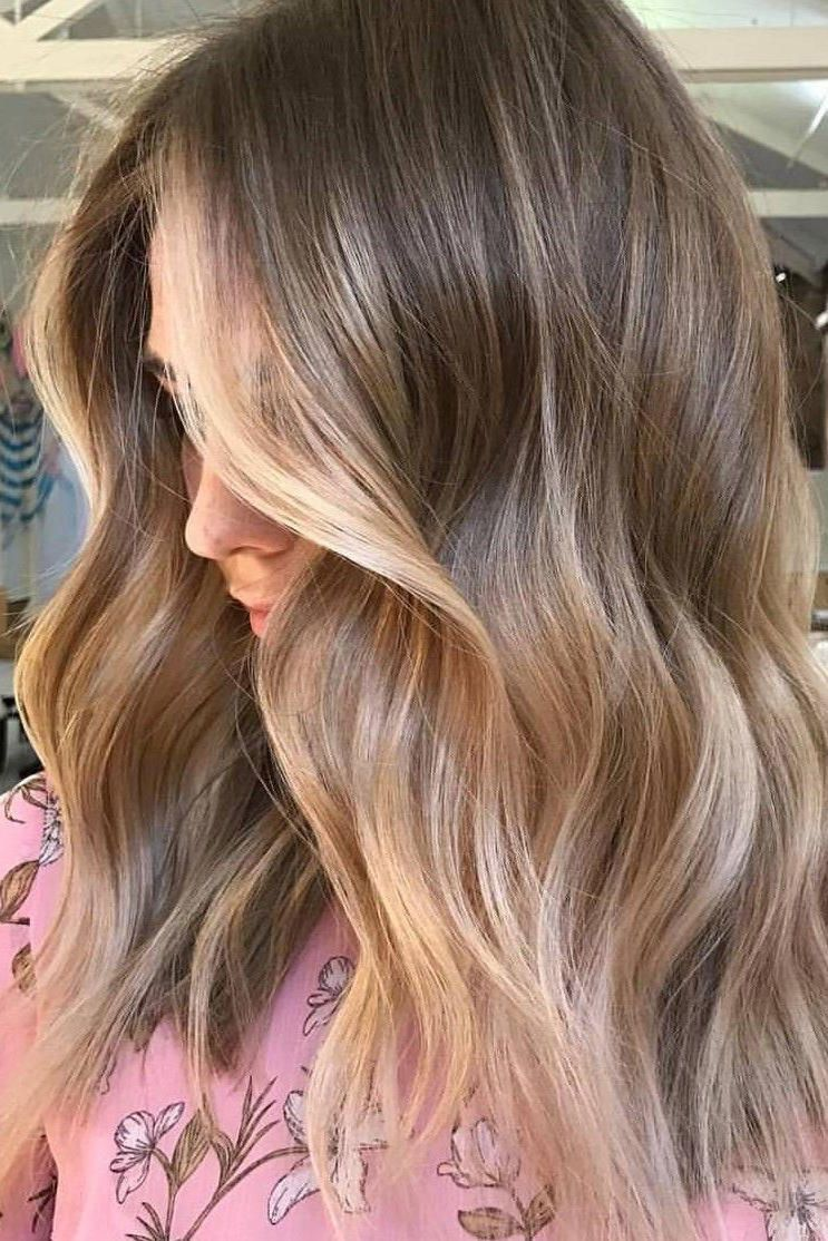 Beige Blonde with Subtle Golden Balayage Say farewell to