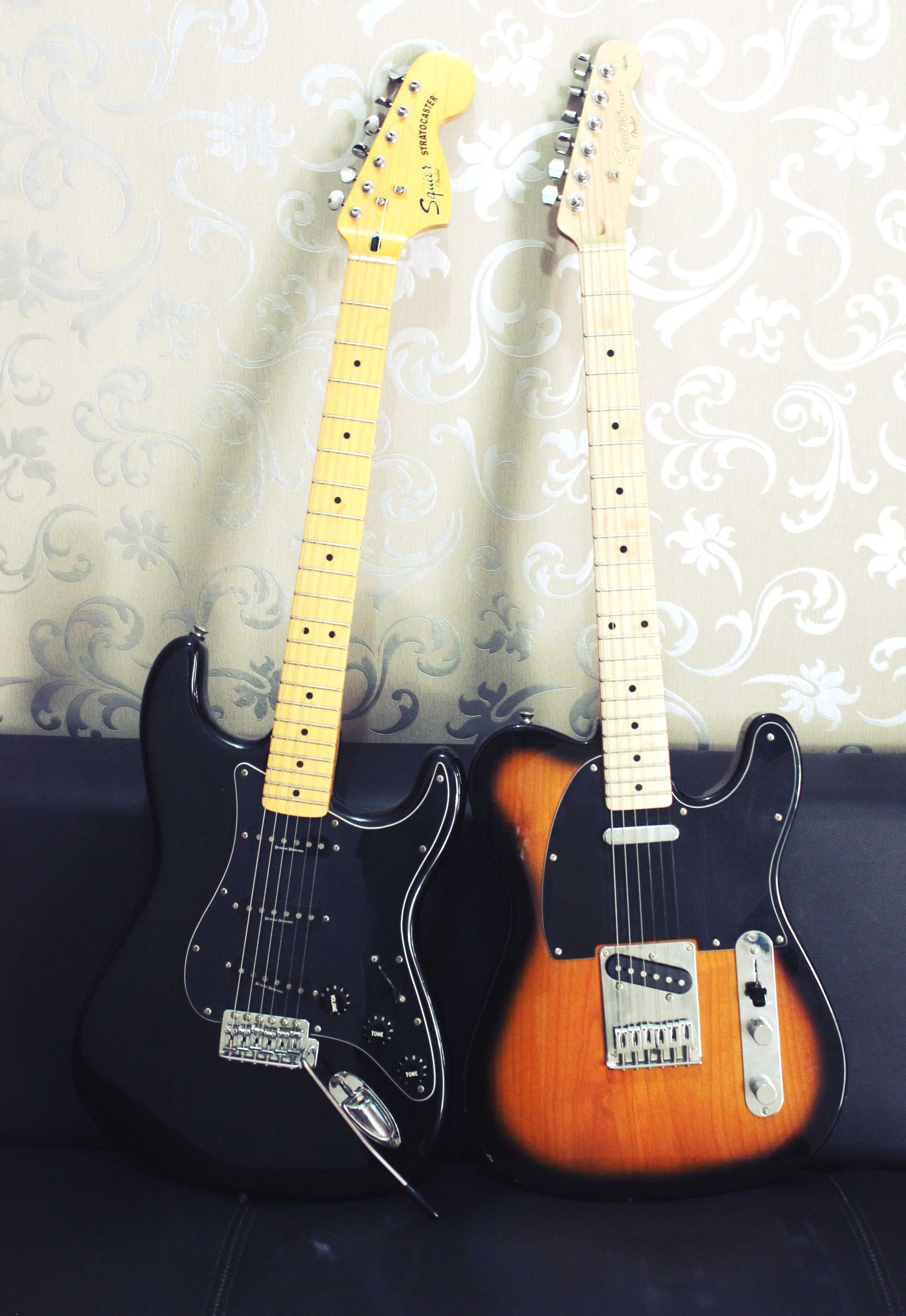 Squier by Fender Stratocaster Vintage Modified 70's & Squier by Fender Telecaster Affinity