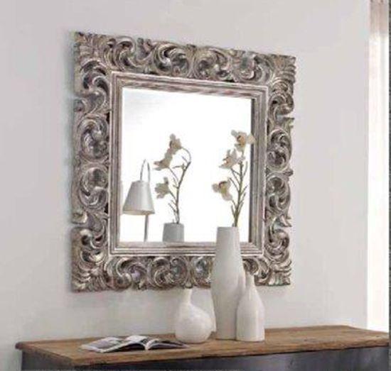 Espejos espejo cuadrado plata espejos pinterest for Espejos decorativos cuadrados