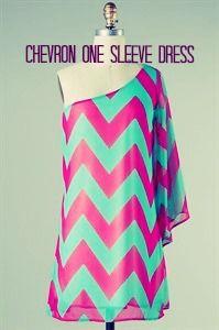 Gorgeous One Sleeve Chevron Print Dress from www.shopjade.com