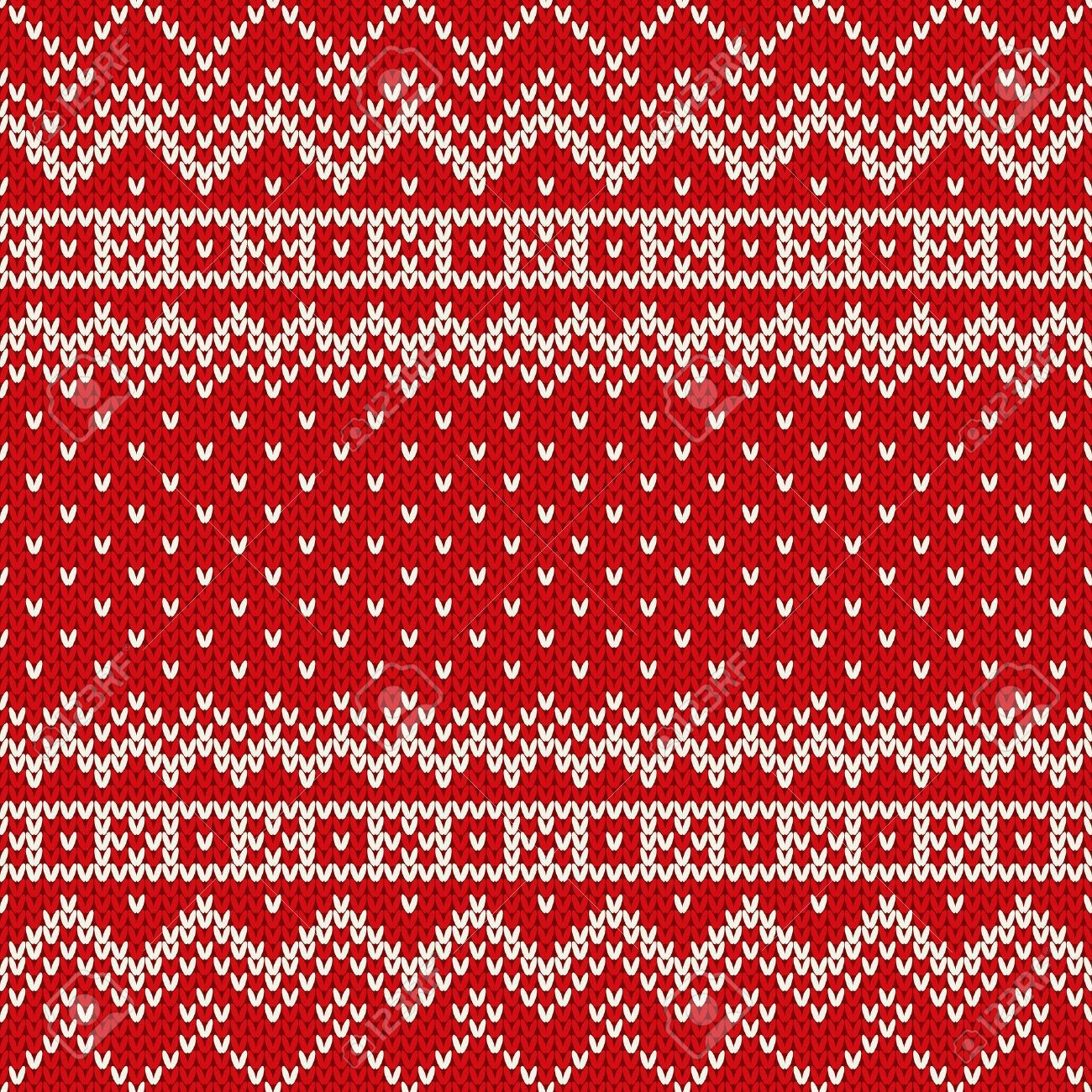 Nordic estilo tradicional Fair Isle patrón de tejido sin costuras ...