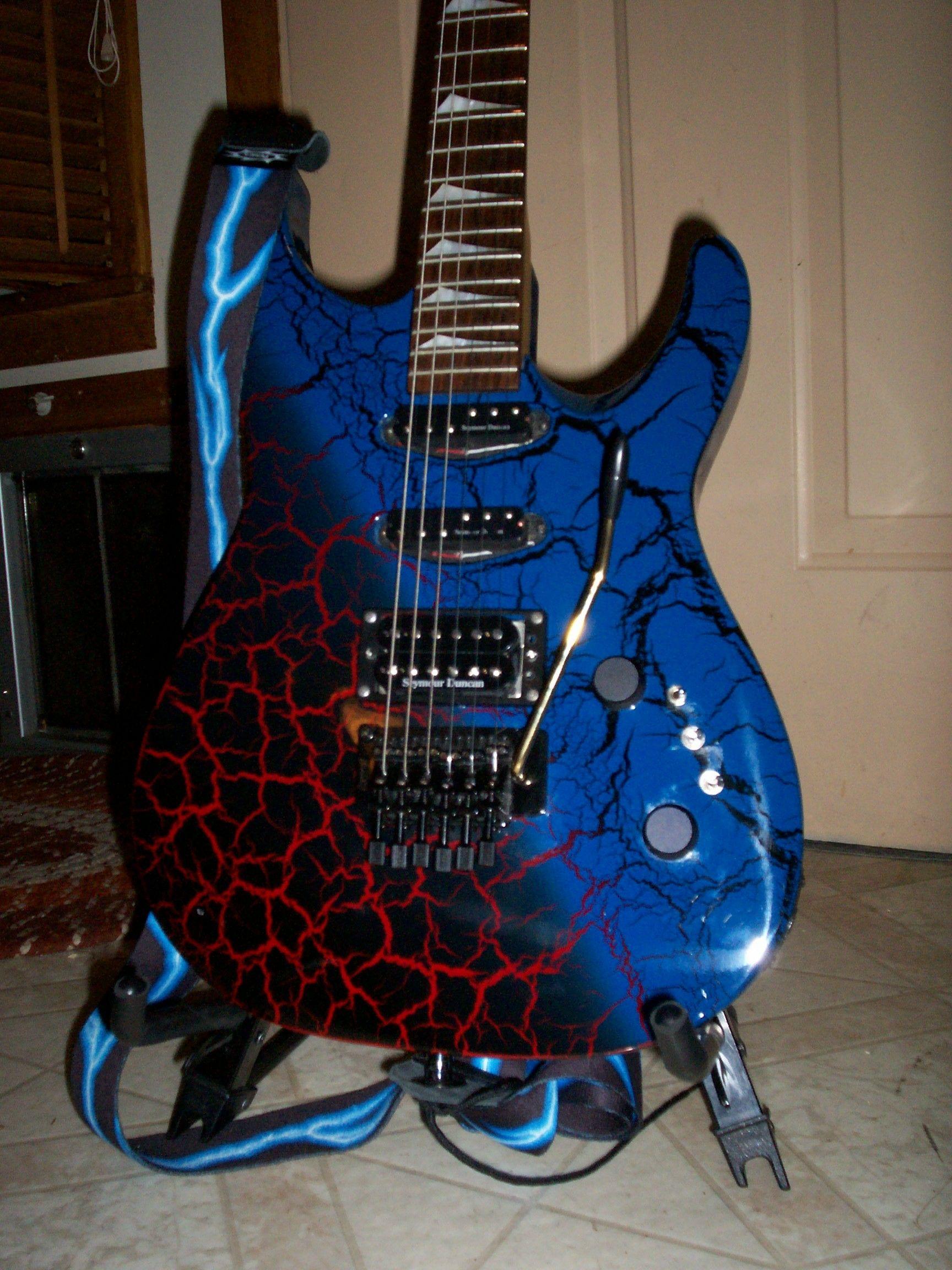 hight resolution of kaman gtx 23 crackle finish 80s guitar museum