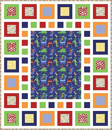 Dino-Mite Quilt Pattern and Quilt Kit | Quilts | Pinterest ... : quilt patterns panels - Adamdwight.com
