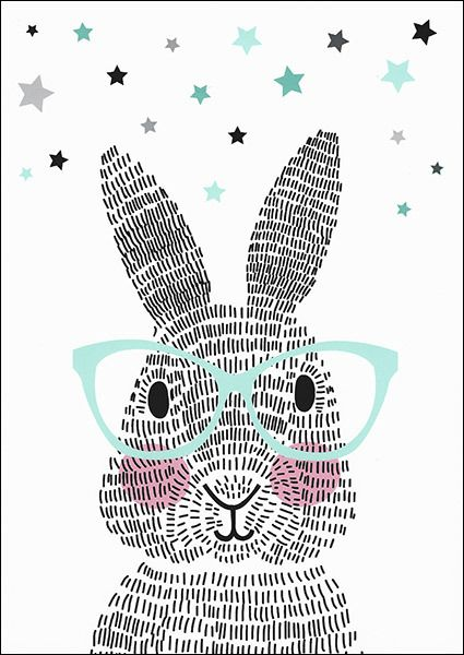 Poster: Mr. Rabbit (A2/A3) | Slaapkamer Lano | Pinterest | Rabbit ...