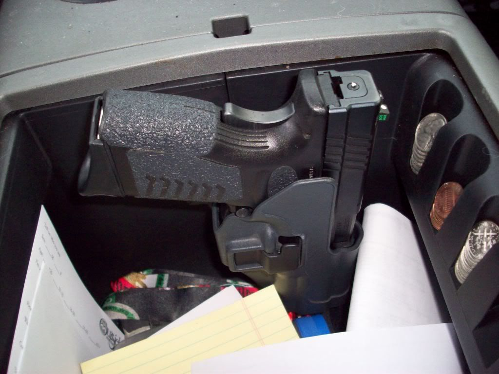 Gun Storage For Vehicle Center Console This Is The Setup I Need