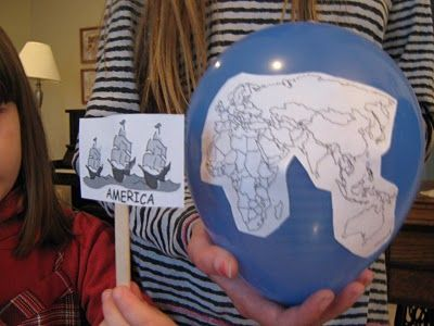 Balloon Globes Columbus Day Columbus Day Homeschool Activities Balloons