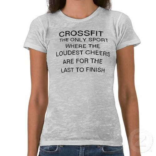 #CrossFit - the only sport where the loudest cheers are for the last to finish #motivation #fitfluential