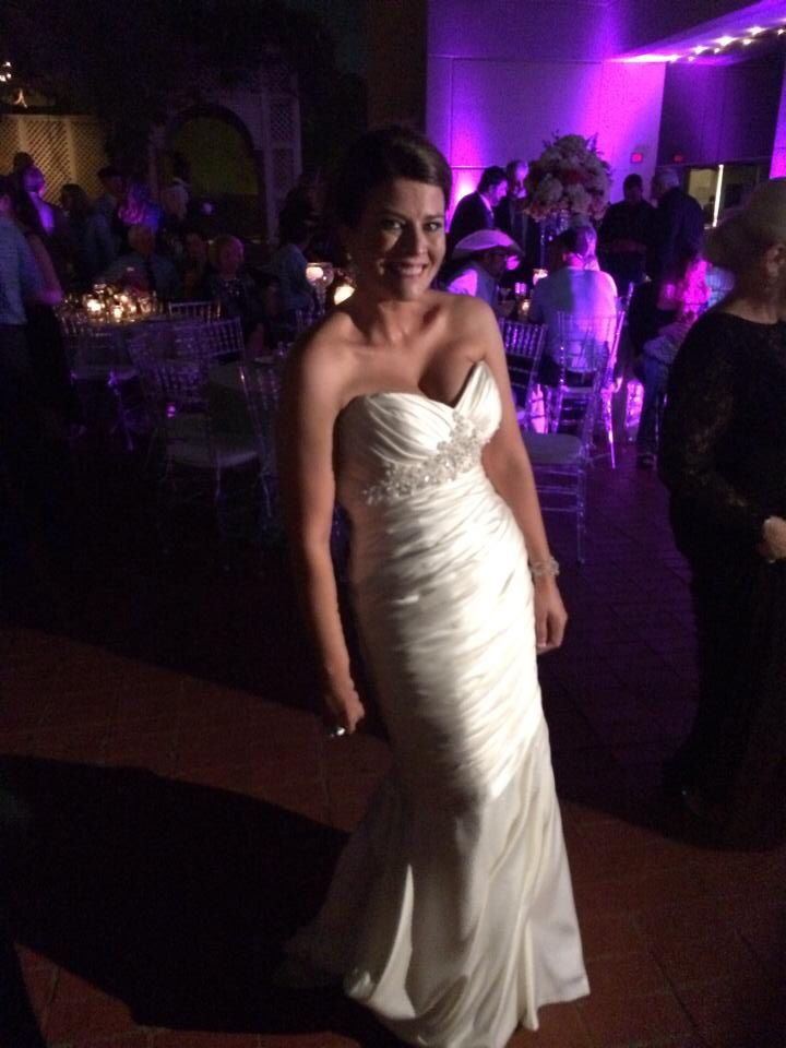 Bailey in her Casablanca bridal gown from Bliss Bridal Salon