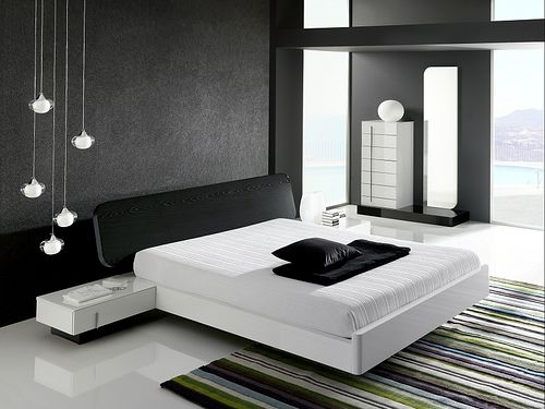 pictures of black and white bedrooms designs ideas | dream home