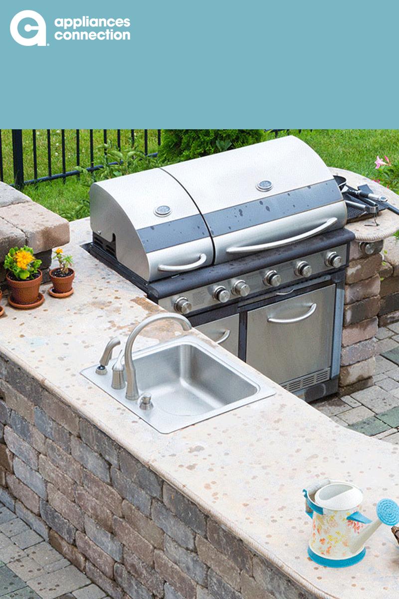 Outdoor Kitchen Inspiration For Backyard Entertaining Home Appliances Sale Appliance Sale Backyard Entertaining