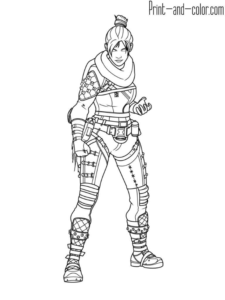 Apex Legends Coloring Page Wraith In 2019 Coloring Pages