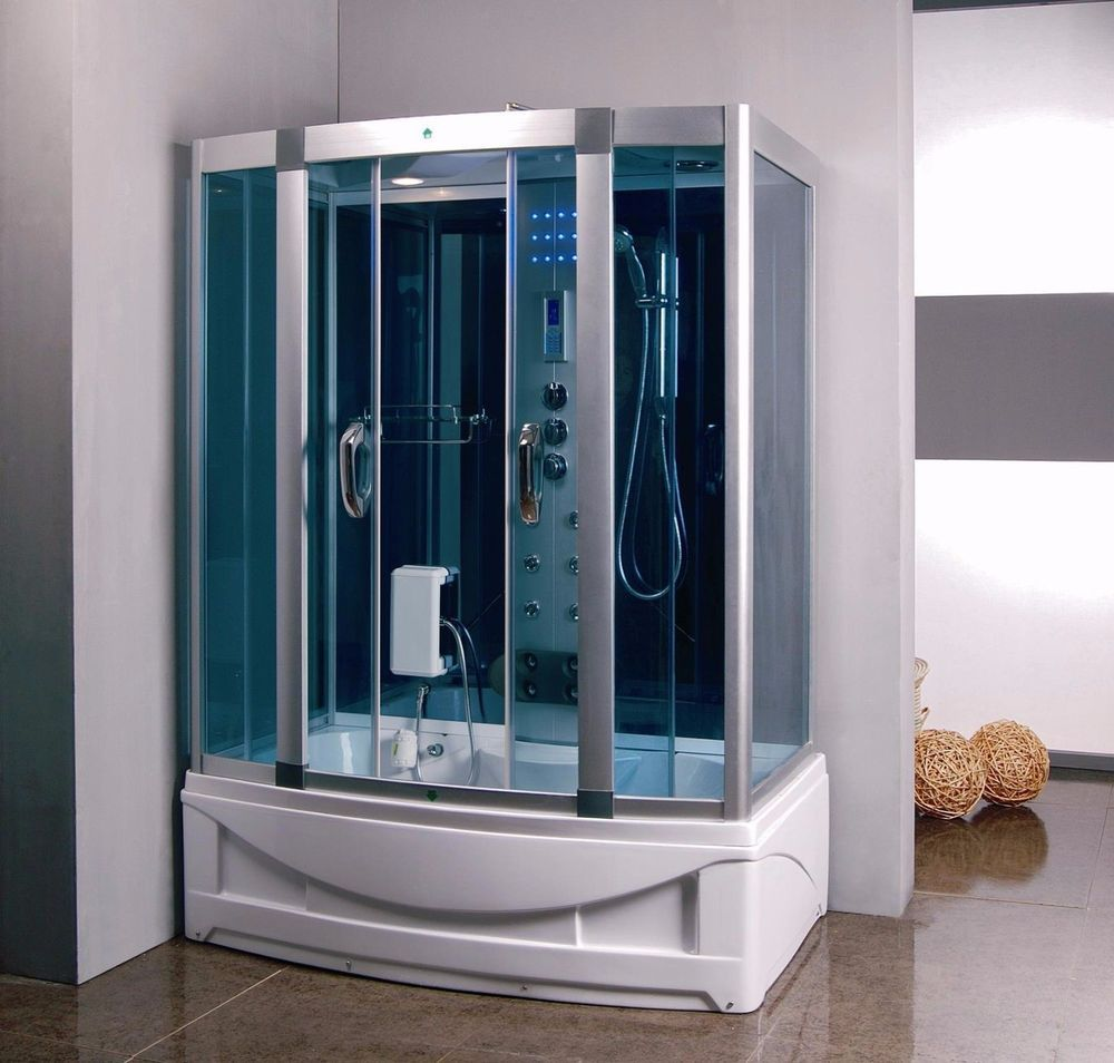 Shower Enclosure 9001S Hydro Massage Jets Led Lights Luxury Bathtub ...
