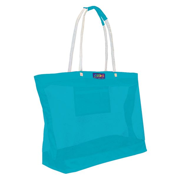 Oversized Mesh Beach Tote Bag - Aqua | Hawaii '16 | Pinterest ...
