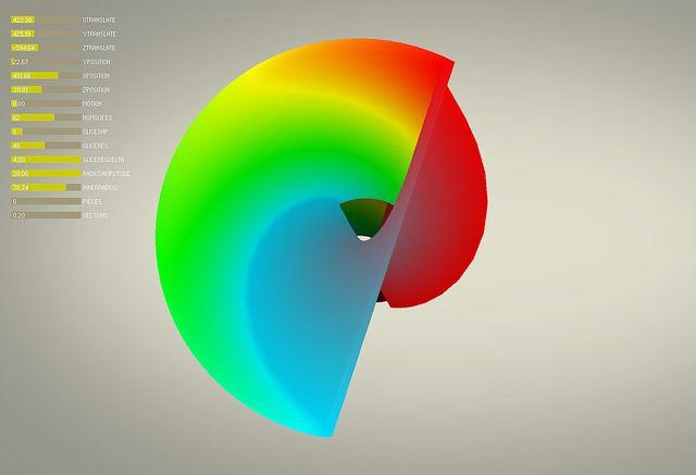 Processing + Vertex3D + ControlP5 #procedural #generative #gradient #3d