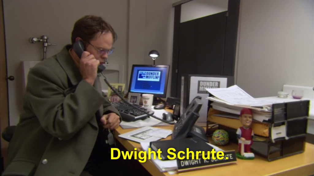The one where Jim hides Dwight's desk in the bathroom