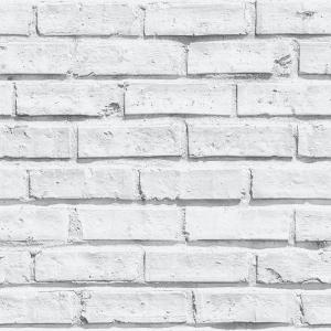 White Brick Effect Unpasted Wallcovering White Brick Wallpaper Brick Effect Wallpaper Brick Wall Wallpaper