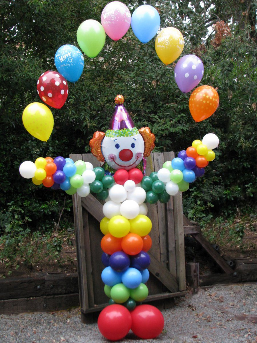 Juggling Clown Circo Pinterest Balloon Columns
