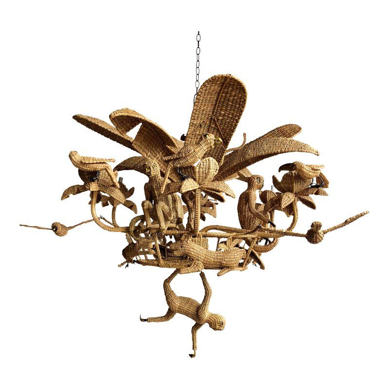 Mario Lopez Torres Palm Tree Chandelier Chandelier For Sale Quirky Art Chandelier