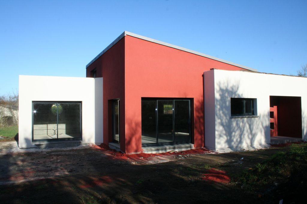 exemple du0027enduit rouge carmine WB 343 exterieur Pinterest Photos - exemple de facade de maison
