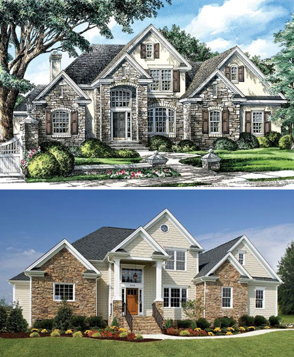 The Luxembourg Plan 979 House Exterior House Plans House