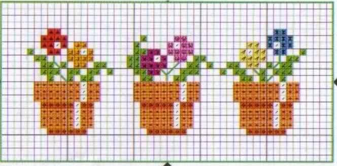 Flores punto de cruz pequeñas - Imagui | PUNTO DE + | Pinterest ...