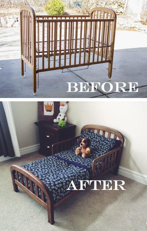 Diy Toddler Bed Repurpose