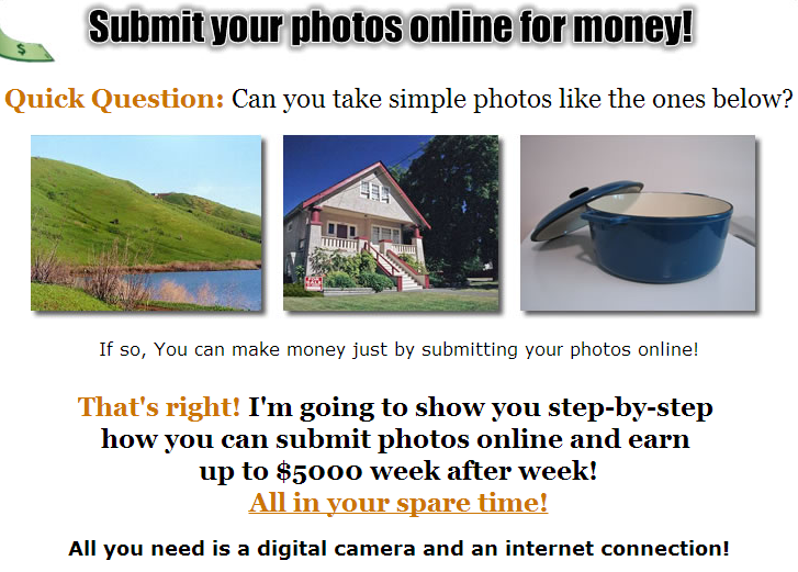Sell Your Own Pictures