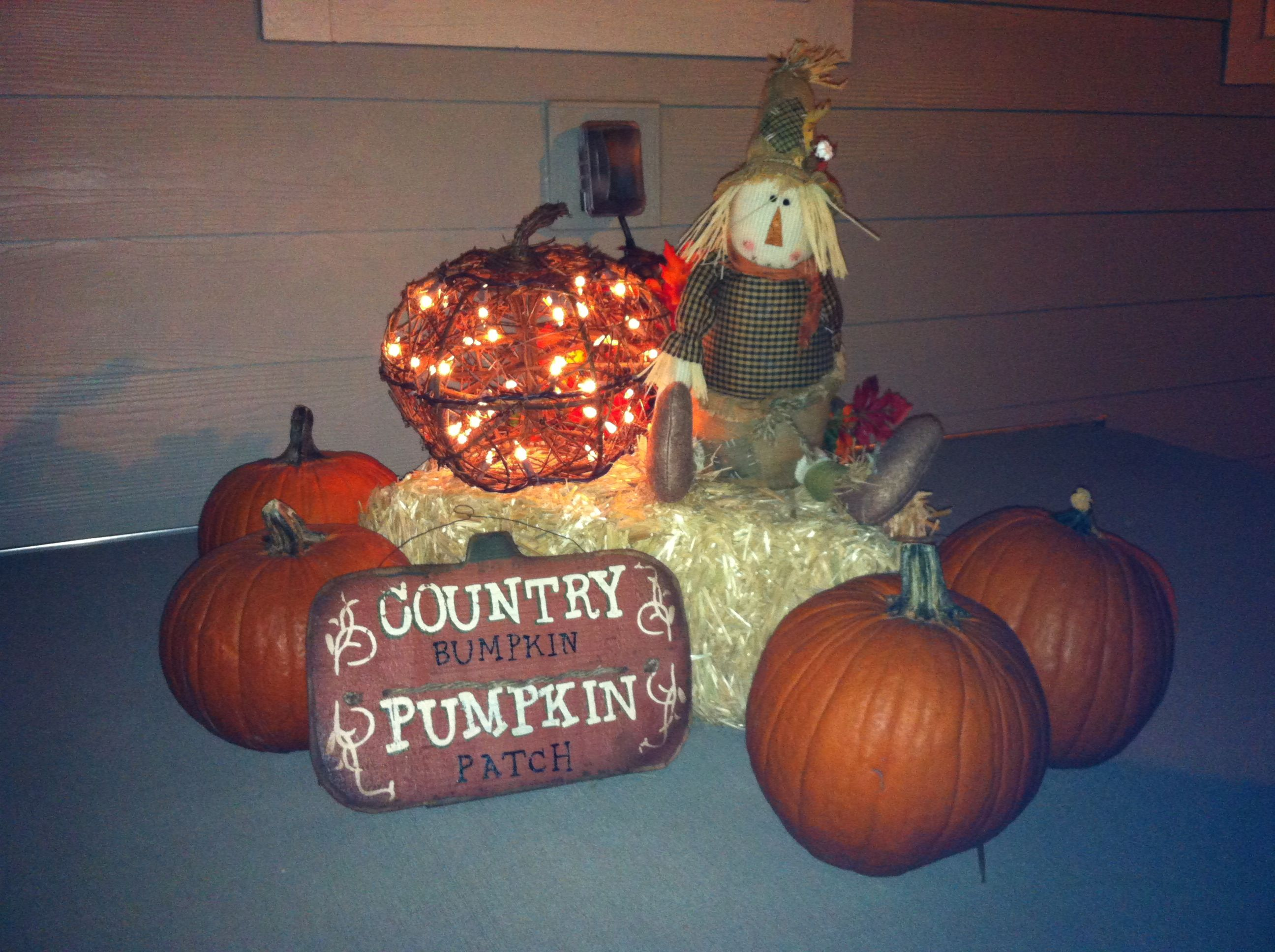 Fall decoration Lighted pumpkin from Target Sign from Ross ...